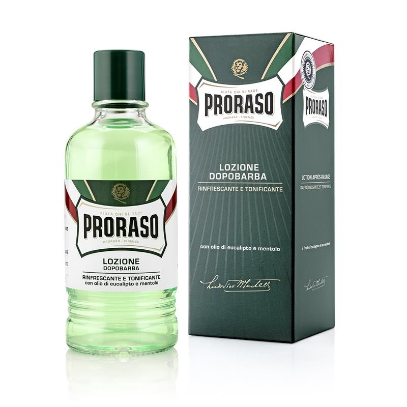 AFTER SHAVE LOCIÓN CON ALCOHOL PROFESIONAL EUCALIPTO Y MENTOL 400 ML.